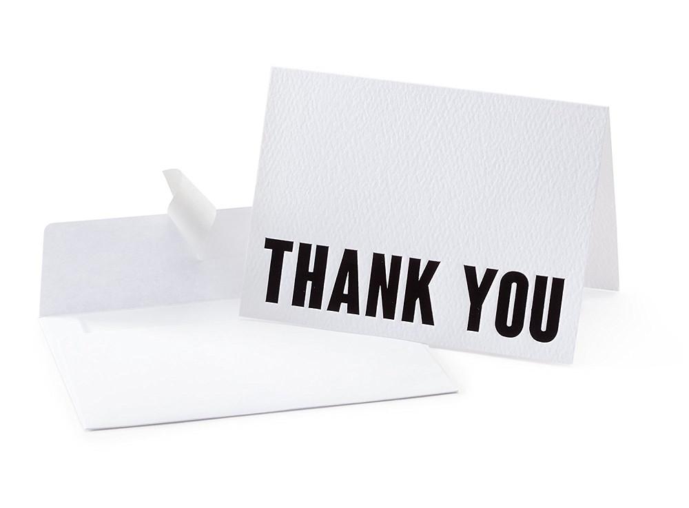 Minimalist Letterpress Thank You Cards