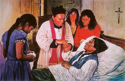 Padre Tezza tra i malati a Lima