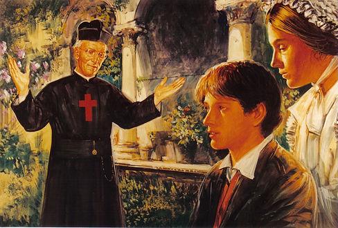 Padre Artini accoglie il giovane Luigi