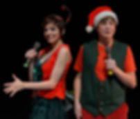 Anneliese Heggli and Kemp Atkinson  of Show Choir! - The Musical at American Conservatory Theater - San Francisco perform Christmas Time