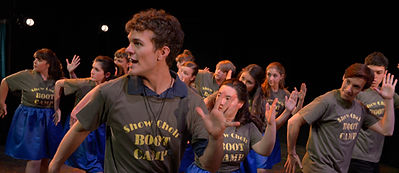 Cast of Show Choir! - The Musical at American Conservatory Theater - San Francisco performs Boot Camp