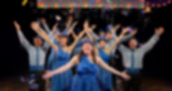 """Cast performs """"Symphonic Sensations Super Bowl Half-Time Show"""" Show Choir! - The Musical at American Conservatory Theatre in San Francisco"""