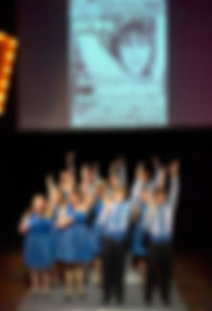 """Cast of Show Choir! - The Musical at American Conservatory Theater - San Francisco performing """"T.N.T."""""""