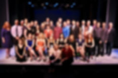 Show Choir! -The Musical co-authors Donald Garverick and Mark McDaniels pose with witers and performers of York Theatre's NEO7 Concert