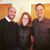 Donald Garverick, Christiane Noll, and Mark McDaniels in the recording studio with Show Choir! - The Musical
