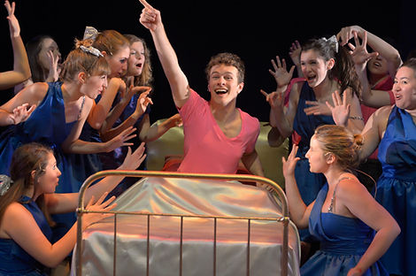 Cast of Show Choir! - The Musical at American Conservatory Theater - San Francisco performs opening number
