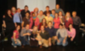 Full Cast of Show Choir! - The Musical 2008 Staged Reading at The Kraine Theatre