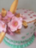 Geburtstagstorte Zuckerblumen Liebe