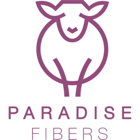 Paradise Fibers logo transparent backgro