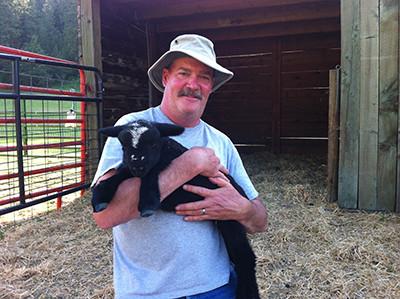 Scott with baby Lizzie