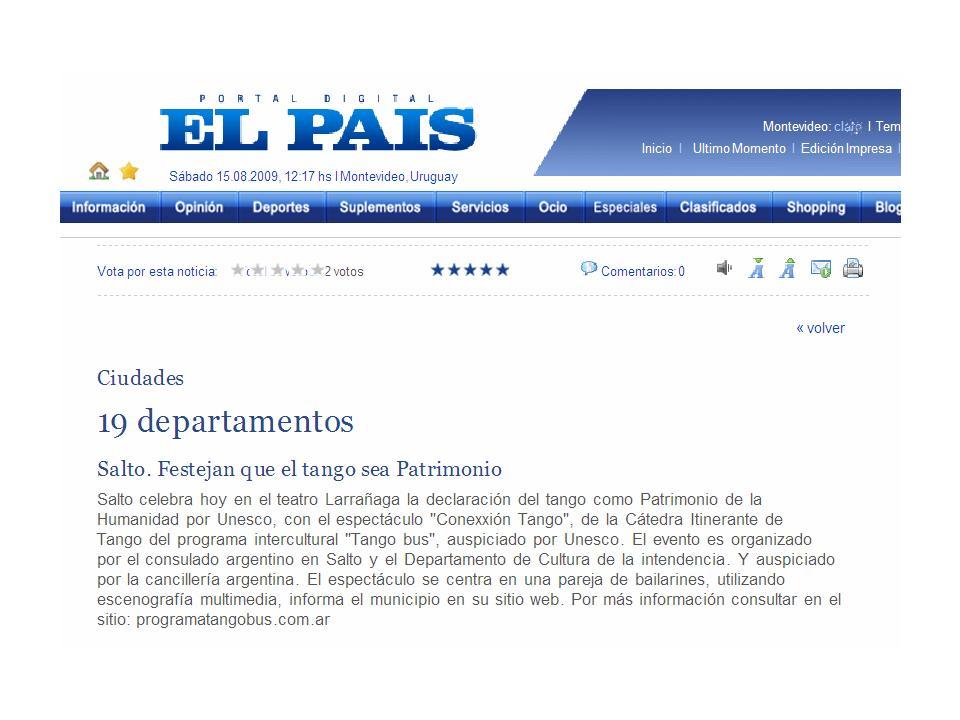 El País. Montevideo 15-8-09.jpg
