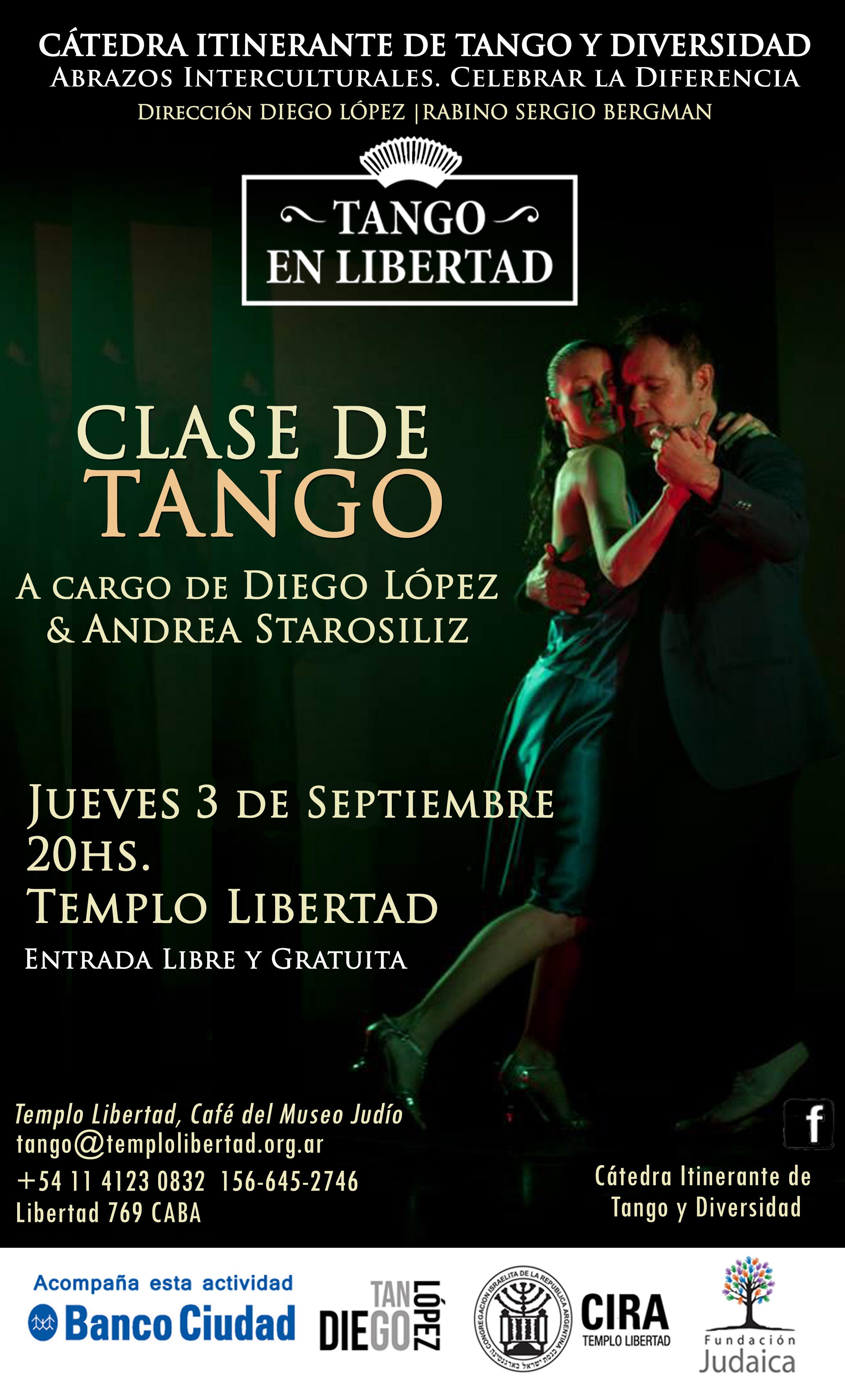 Clase de tango en libertad