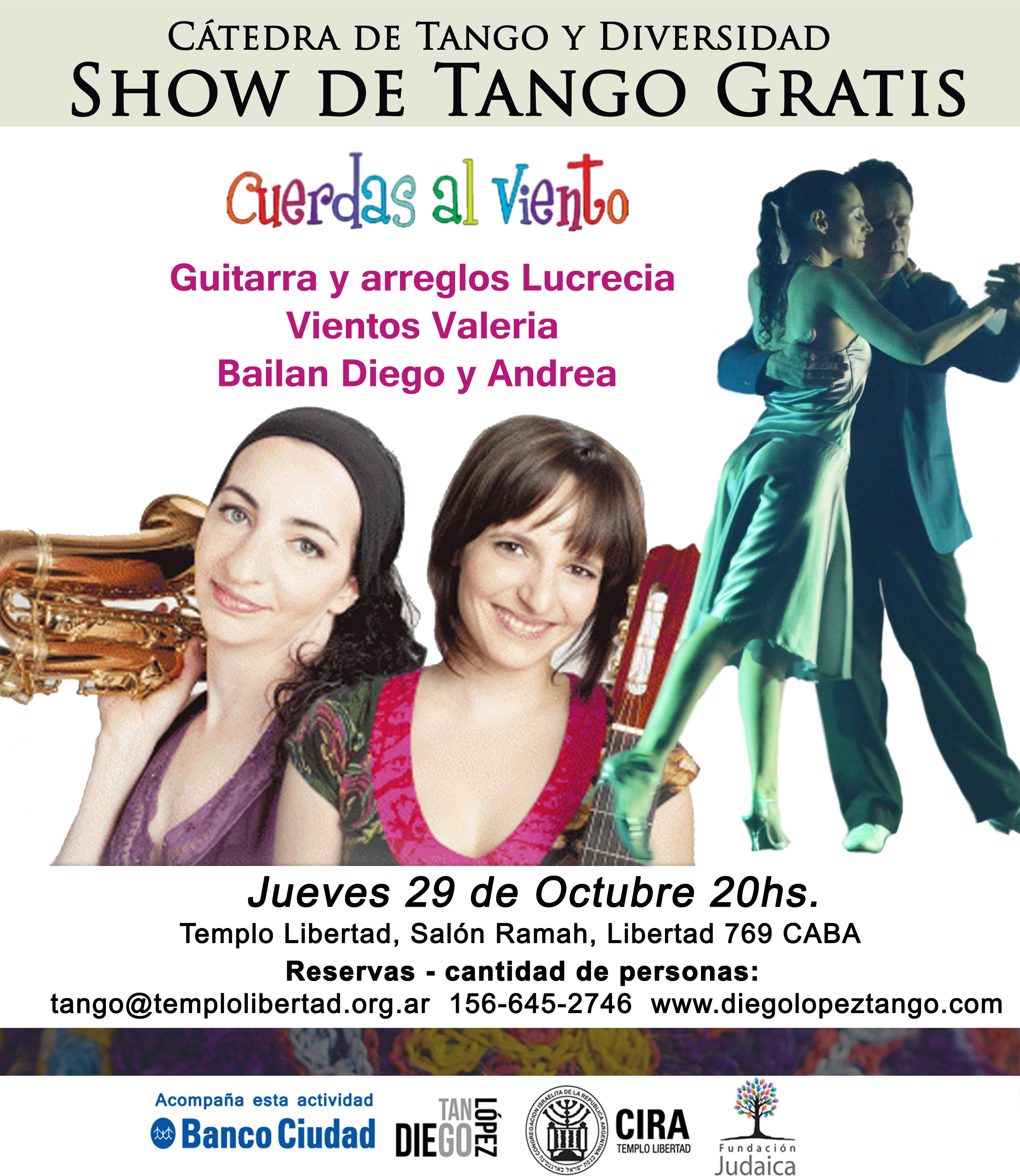 show de tango en libertad cuerdas al viento