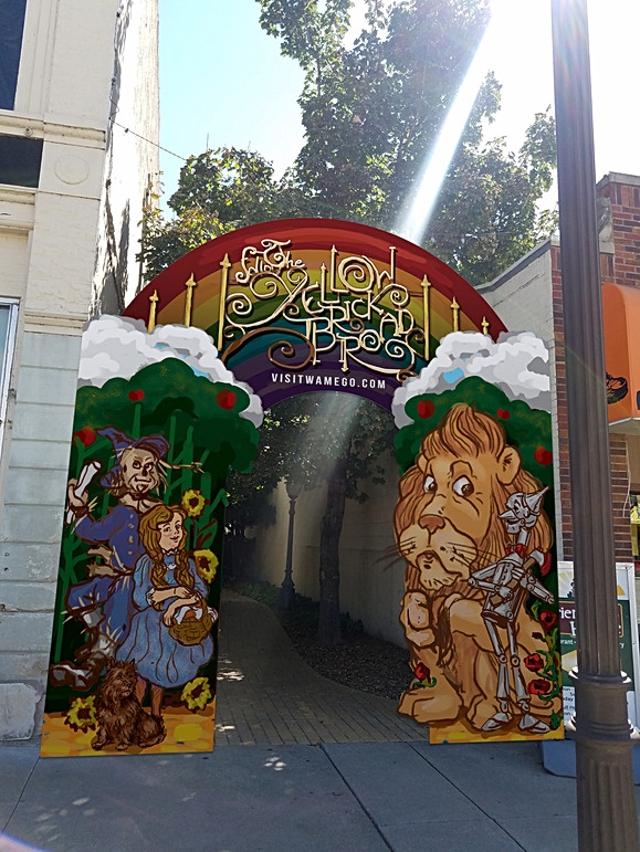 Archway for Yellowbrick Road Path