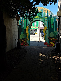Back of Archway over Yellow Brick Road