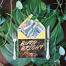 Dinner Party Invite: Burn Bright