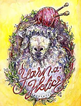 Yarn Aholics Knitting Group Mascot