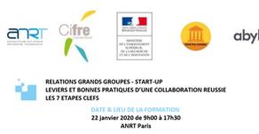 Intervention à la formation ANRT : Relations grands groupes start-up