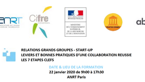 Intervention à la formation ANRT : Relations grands groupes start-up