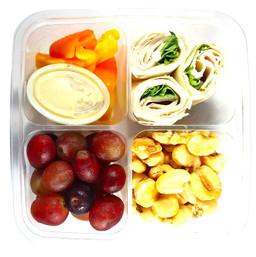 Turkey, Hummus and Spinach Wraps