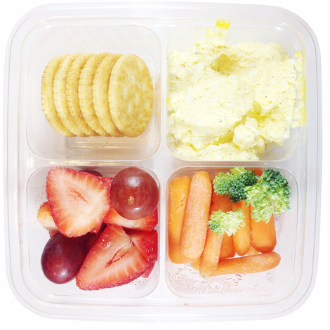 Egg Salad with Crackers