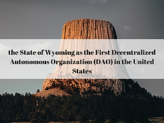 The American CryptoFed DAO is legally recognized by the State of Wyoming as the First Decentralized