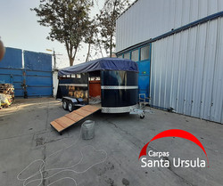 Carpa PVC impermeable carro para Caballos