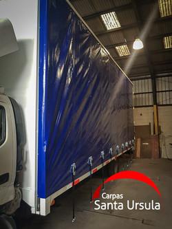 Cortinas PVC impermeables para camión - corredera con overcenter