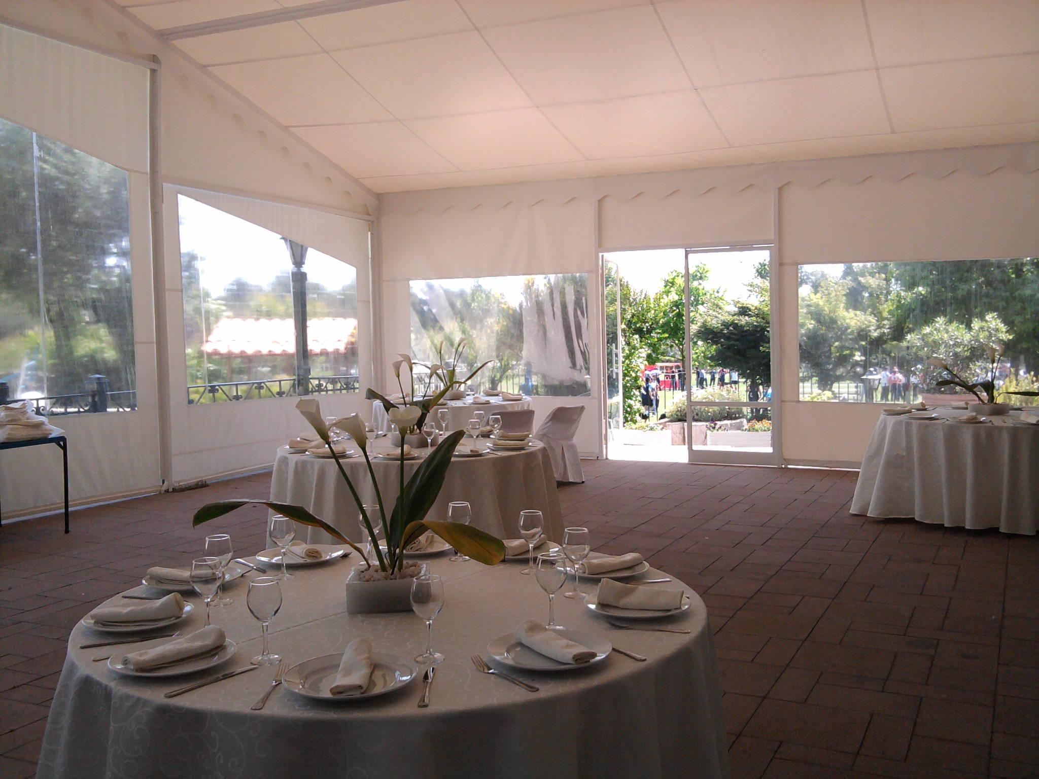 Interior ventanas carpa Eventos