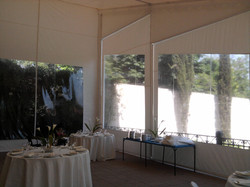 Interior ventana Carpa galpón evento