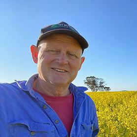Chris Reichstein in a canola crop at Mount Burdett farm