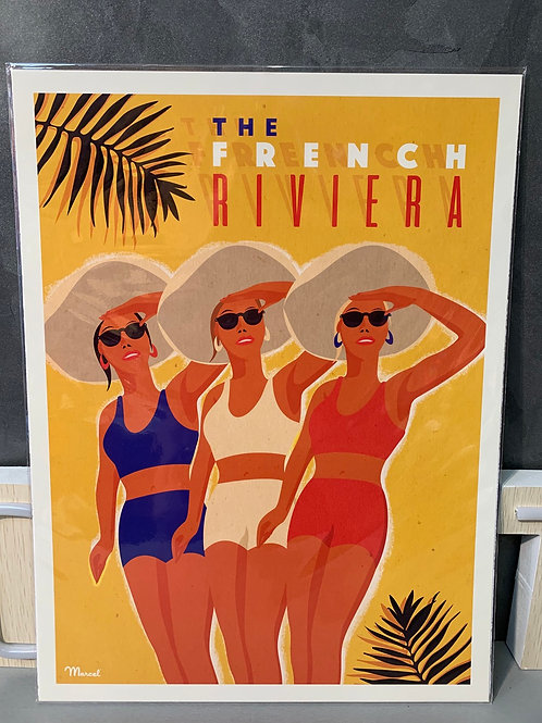 Affiche Marcel THE FRENCH RIVIERA 30x40cm