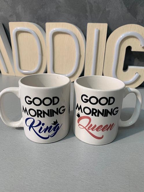 Mini mug good morning king queen