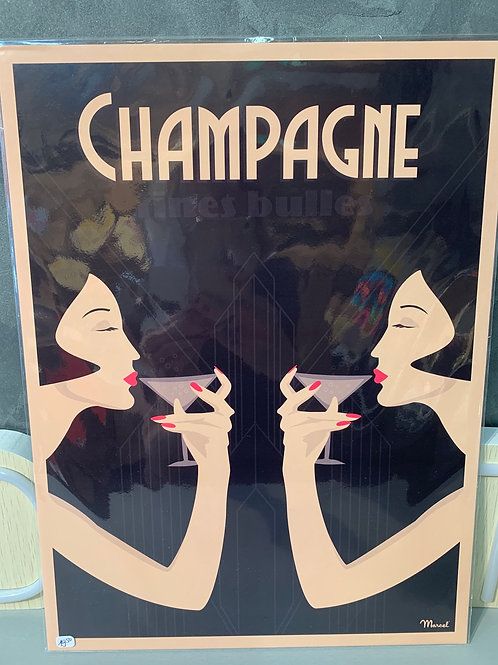 Affiche Marcel CHAMPAGNE 30x40cm