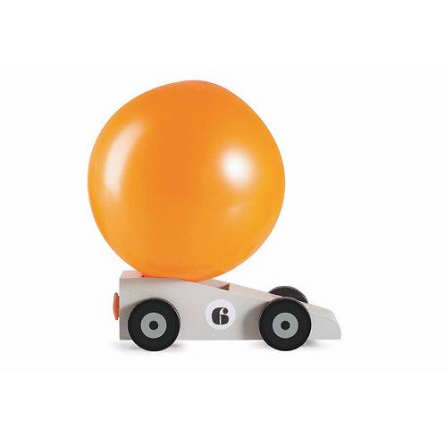 Mini Voiture-ballon en bois - propulsé par l'air