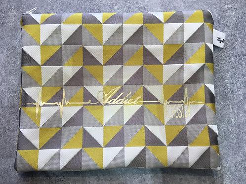 Pochette Addict Cassis jaune/gris