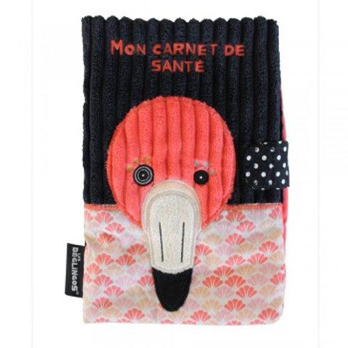 Protège carnet de santé Flamingos le flamant rose