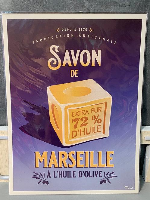 Affiche Marcel SAVON DE MARSEILLE 30x40cm
