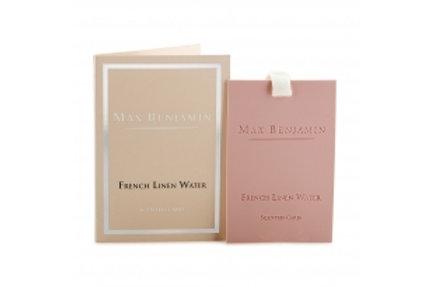 Carte parfumée French Linen Water Max Benjamin