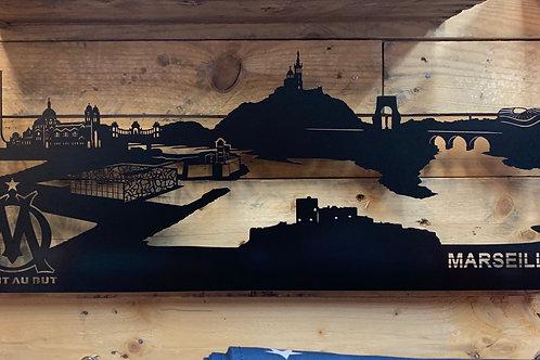 Skyline de Marseille OM 68cm