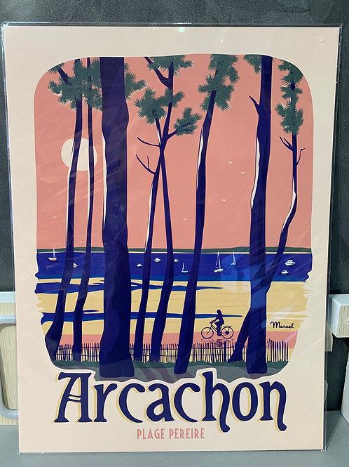 Affiche Marcel ARCACHON 30x40cm