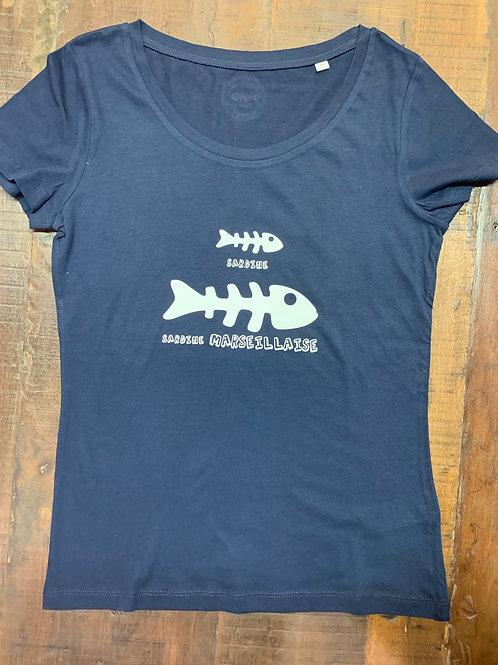 T- shirt femme sardine marseillaise