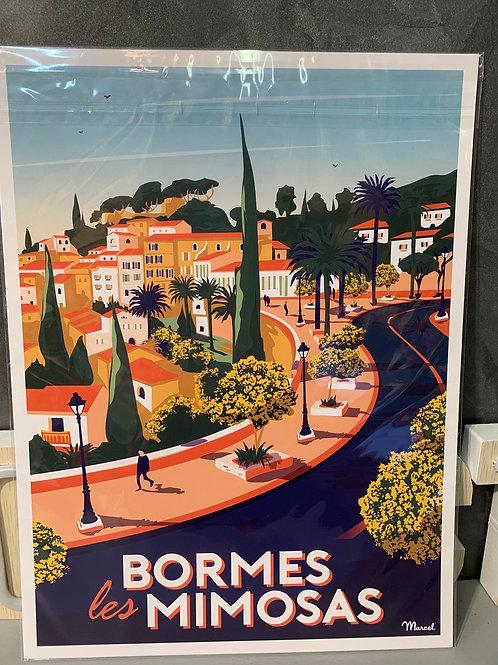 Affiche Marcel BORMES LES MIMOSAS