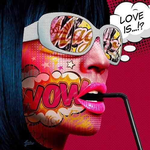 Love is by Monika Nowak Toile  à partir de