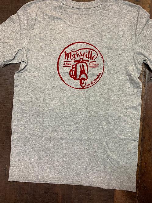 T-shirt homme MARSEILLE À FOND LA CAISSE