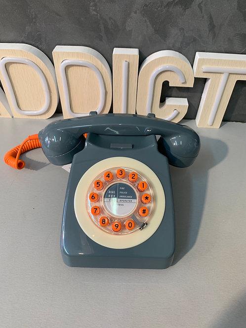 Téléphone rétro gris