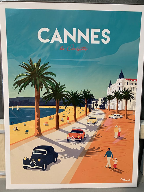 Affiche Marcel CANNES 30x40cm