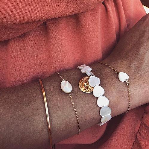 Bracelet coeur pampille