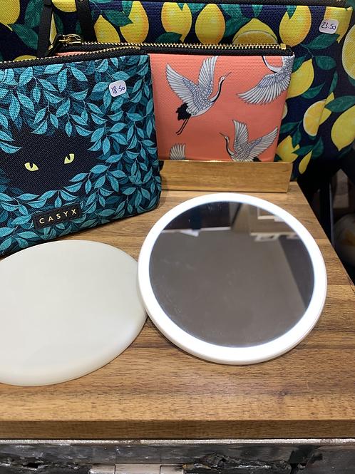 Miroir de poche éclairage LED
