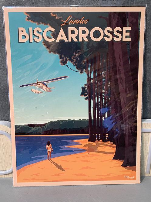 Affiche Marcel BISCARROSSE 30x40cm